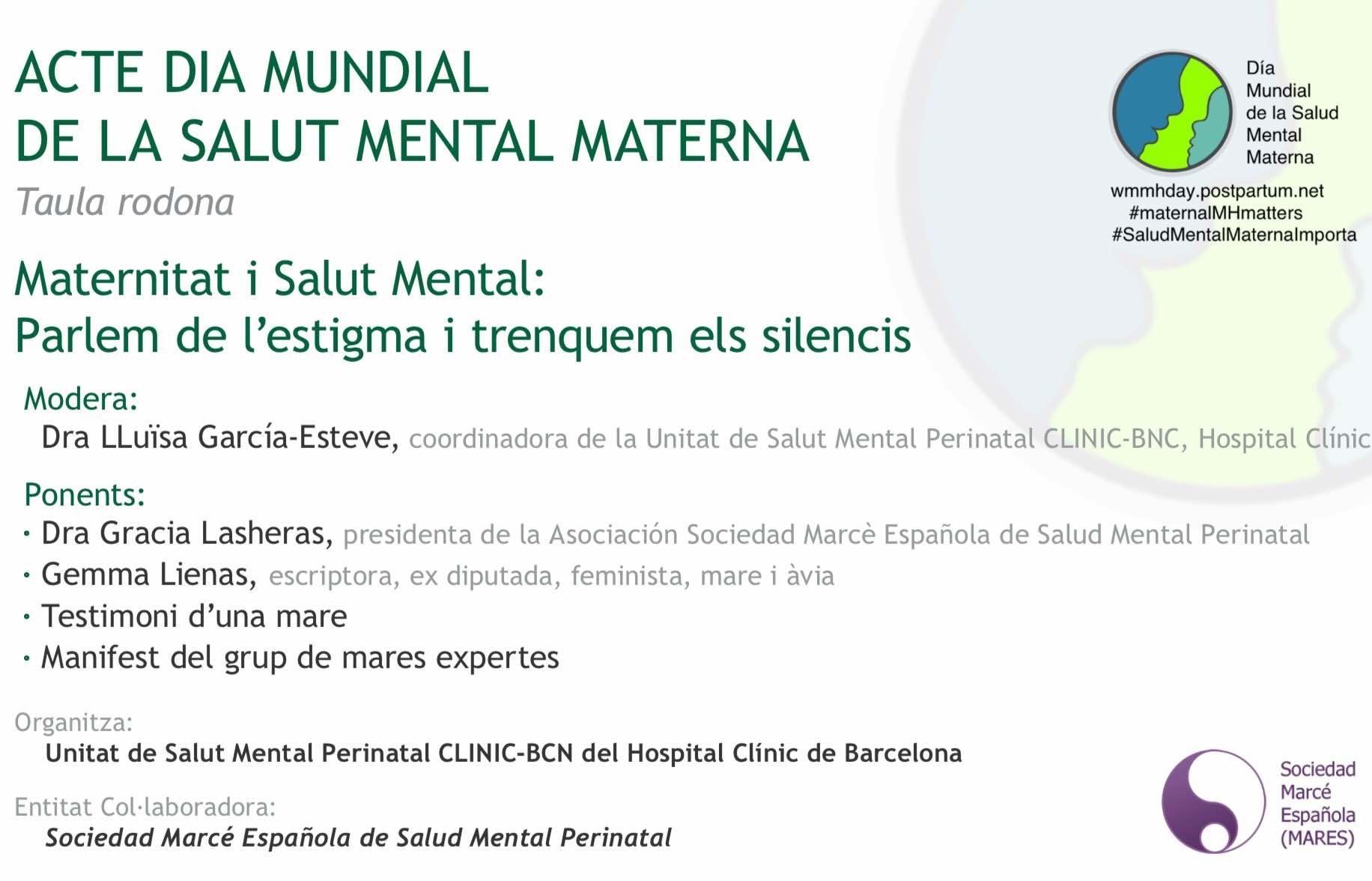 Mesa Redonda: Maternidad y Salud Mental: hablemos del estigma y rompamos los silencios