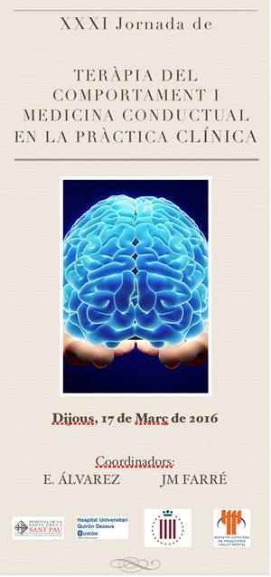 XXXI Jornada de Teràpia del Comportament i Medicina Conductual en la Pràctica Clínica