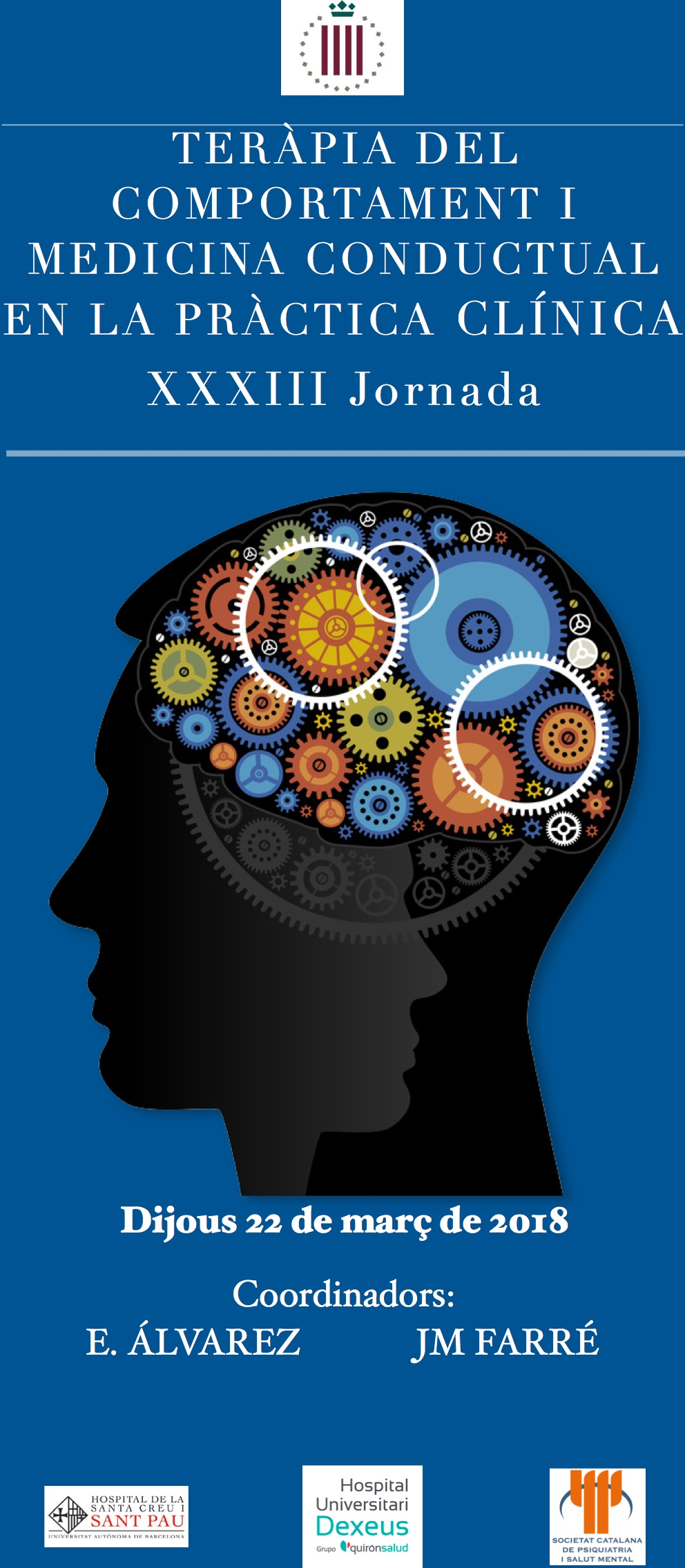 XXXIII Jornada de Teràpia del Comportament i Medicina Conductual en la Pràctica Clínica